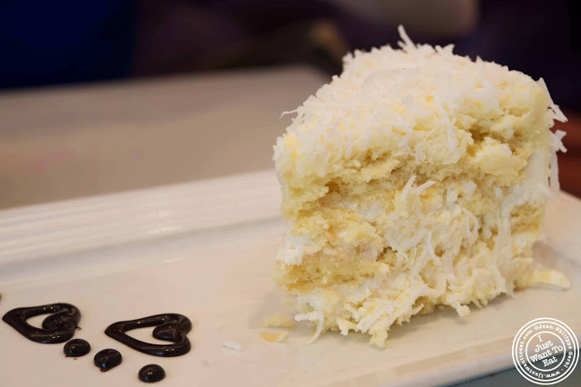 Image of coconut cake at Sugar and Plumm in NYC, New York