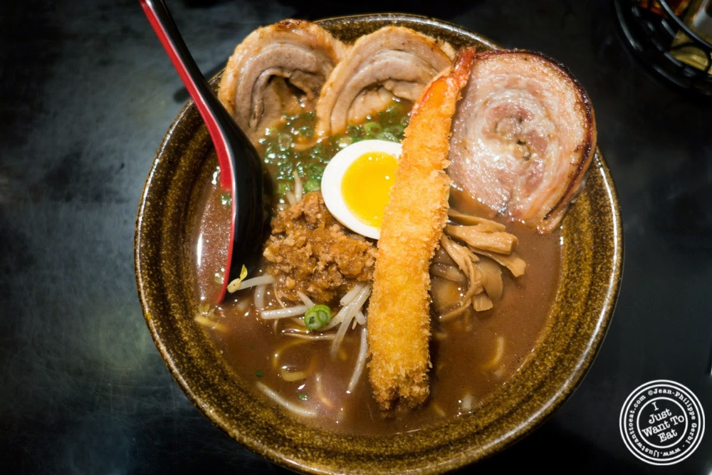 image of Mame miso Cha-Shu ramen at Ramen Misoya in the East Village, NYC, New York