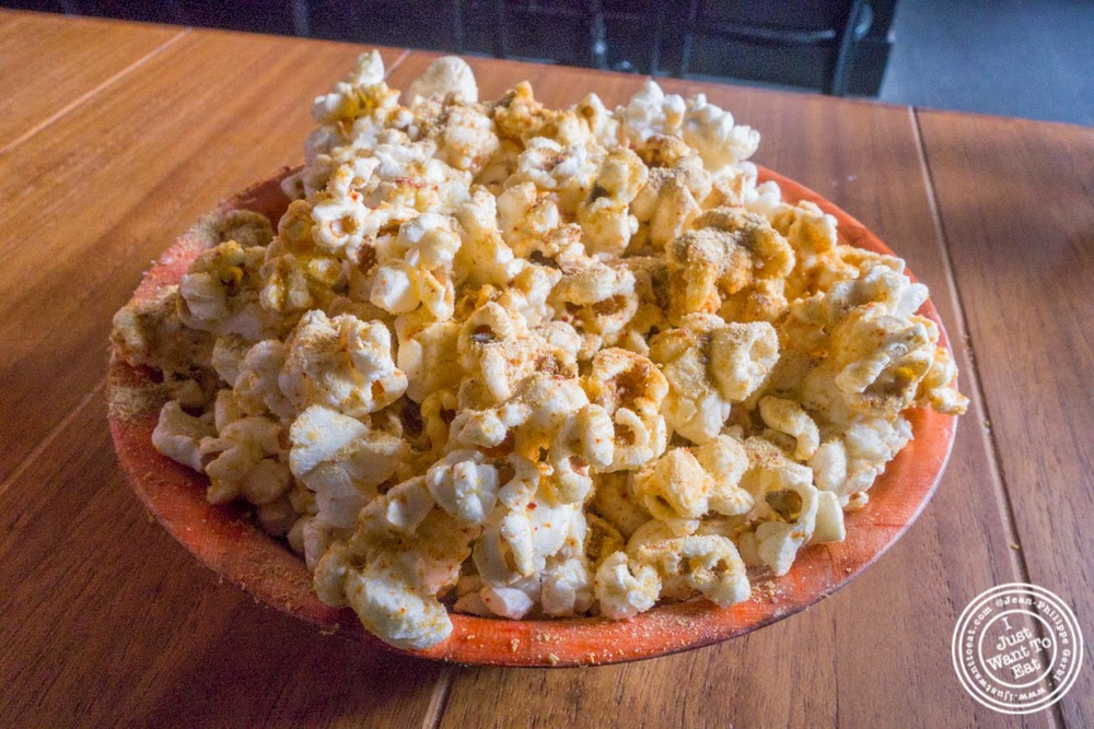 image of popcorn at Distilled in Tribeca, NYC, New York