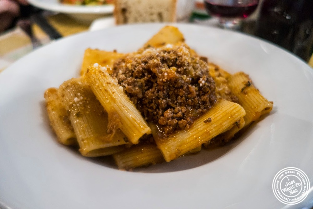 image of manicotti al ragu at Trattoria Mario, communal dining in Florence, Italy