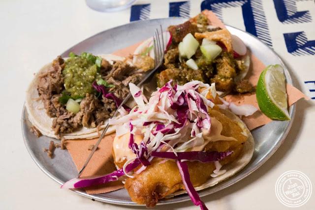 image of tacos from Tacombi at Fonda Nolita in NYC, New York