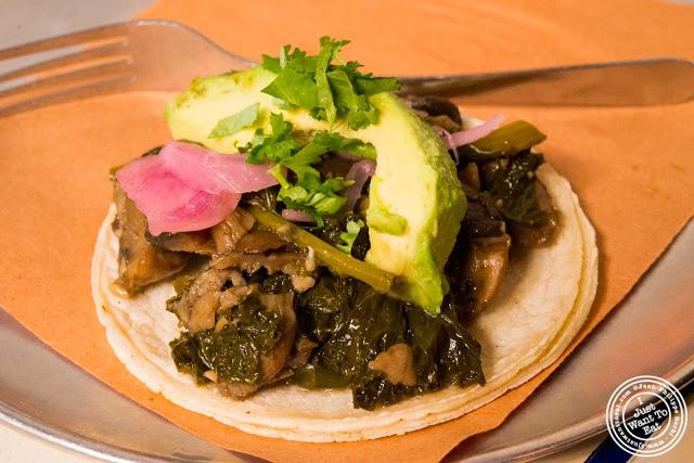 image of veggie tacos from Tacombi at Fonda Nolita in NYC, New York