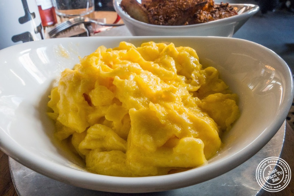 image of scrambled eggs at Distilled in Tribeca, NYC, New York