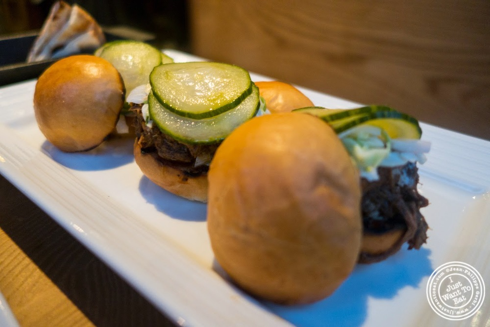 image of lamb sliders at Snack EOS in Hell's Kitchen, NYC