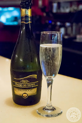 image of prosecco at Giano Italian restaurant in the East Village - NYC, New York