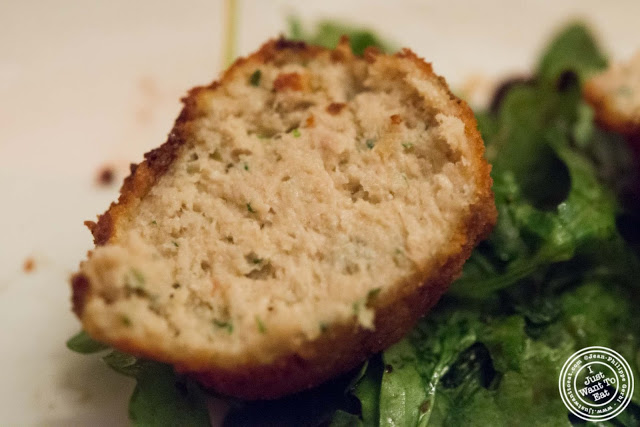 image of tuna and ricotta croquette at Giano Italian restaurant in the East Village - NYC, New York