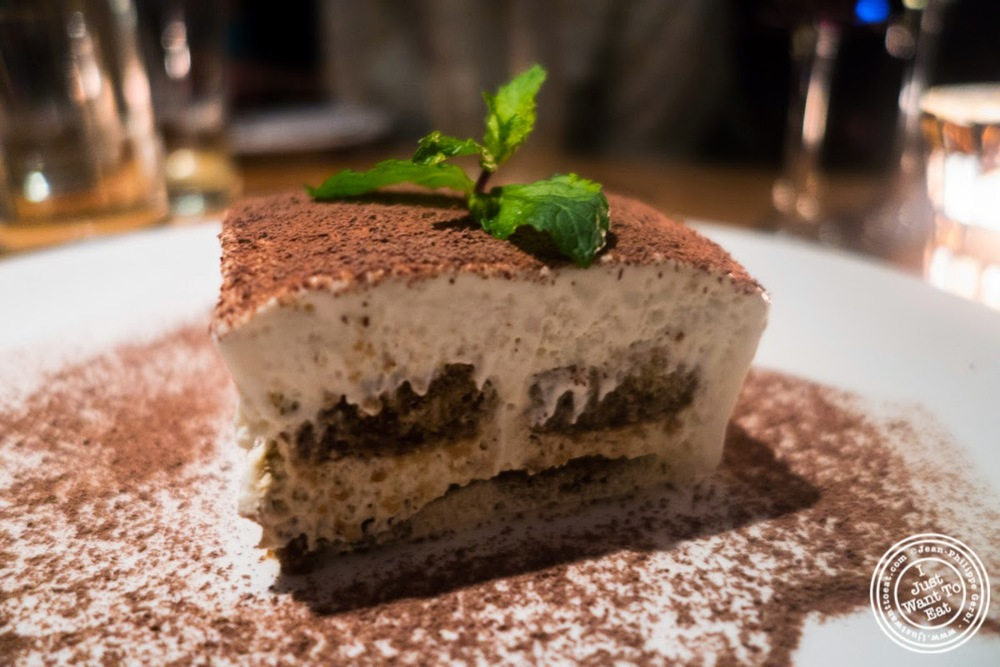 image of tiramisu at Da Marcella Taverna in Greenwich Village, NYC, New York