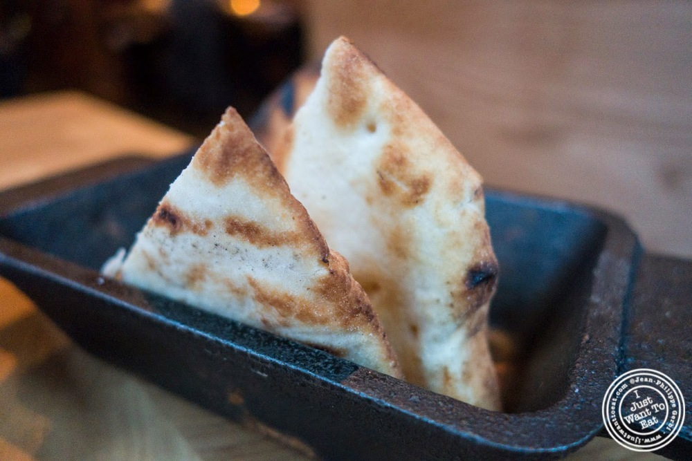 image of pita at Snack EOS in Hell's Kitchen, NYC