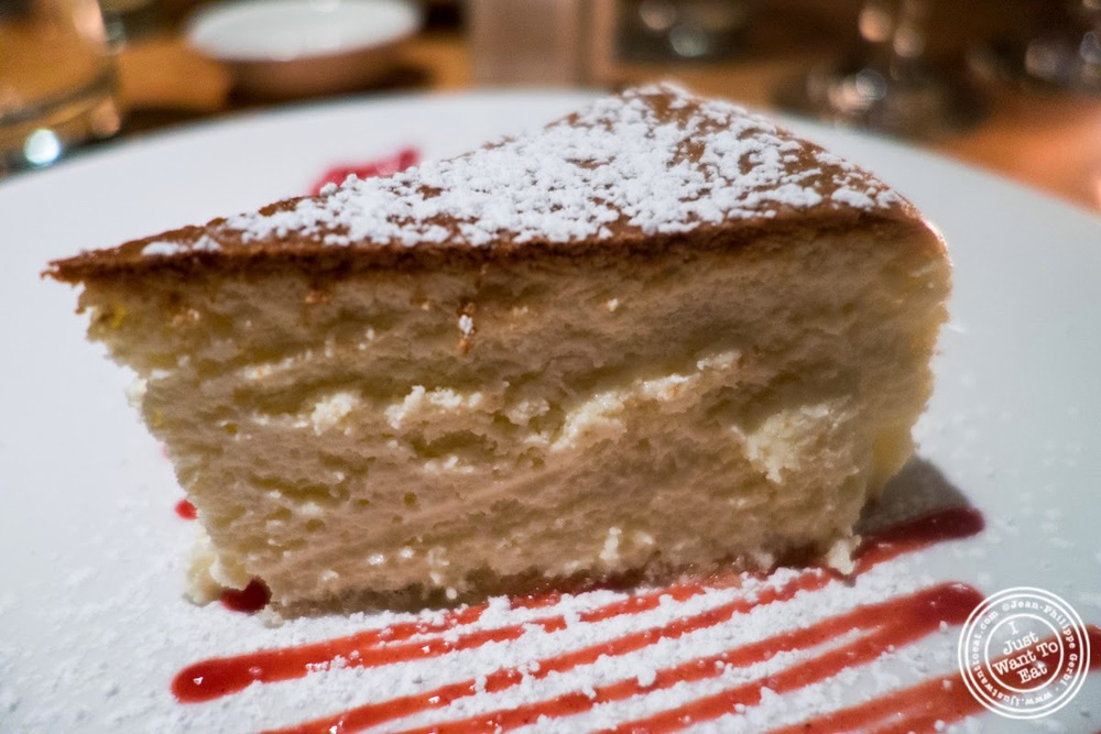 image of ricotta cheesecake at Da Marcella Taverna in Greenwich Village, NYC, New York