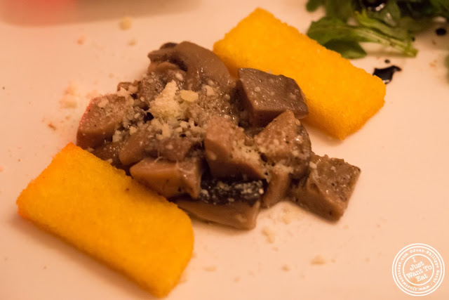 image of crispy polenta and mushrooms at Giano Italian restaurant in the East Village - NYC, New York