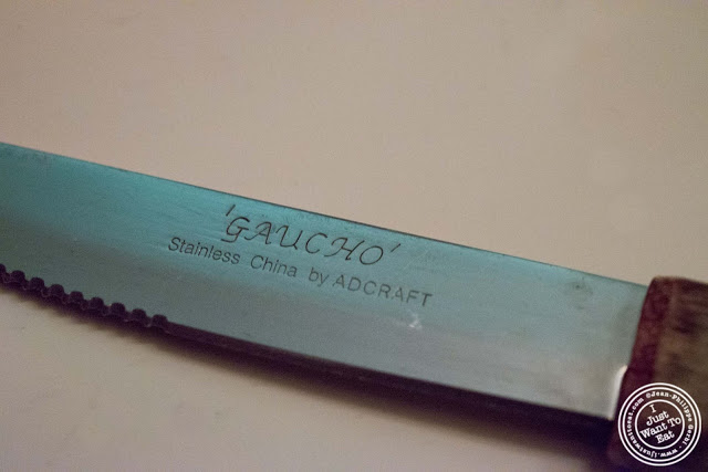 image of steak knife at Giano Italian restaurant in the East Village - NYC, New York