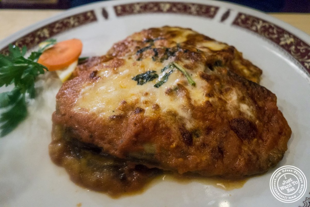 image of eggplant parmesan at Mamma Gina in Florence, Italy