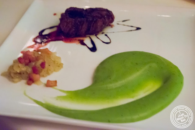 image of filet mignon with basil mashed potatoes at Giano Italian restaurant in the East Village - NYC, New York