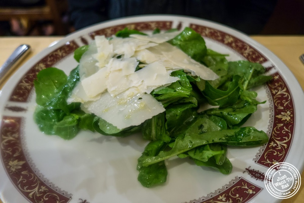 image of parmesan salad at Mamma Gina in Florence, Italy