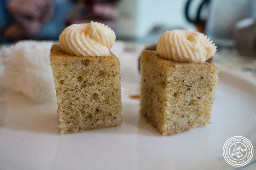 image of Earl Grey tea cake at Chikalicious Dessert Bar in the East Village, NYC, NY