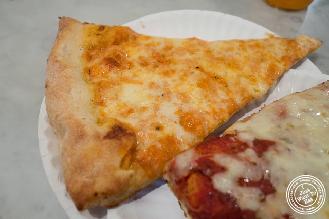 image of vodka slice at Famous Ben's pizza in Soho, NYC, New York