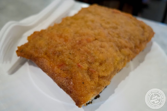 image of Palermo slice at Famous Ben's pizza in Soho, NYC, New York