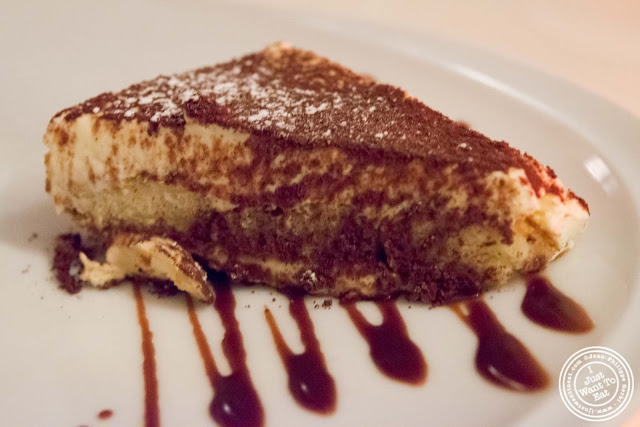 image of tiramisu at Giano Italian restaurant in the East Village - NYC, New York