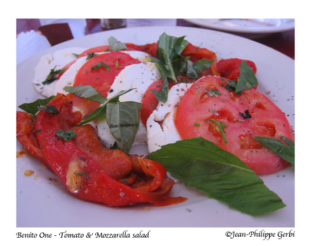 Image of tomato and mozzarella salad at Benito one Italian restaurant in Little Italy NYC, New York
