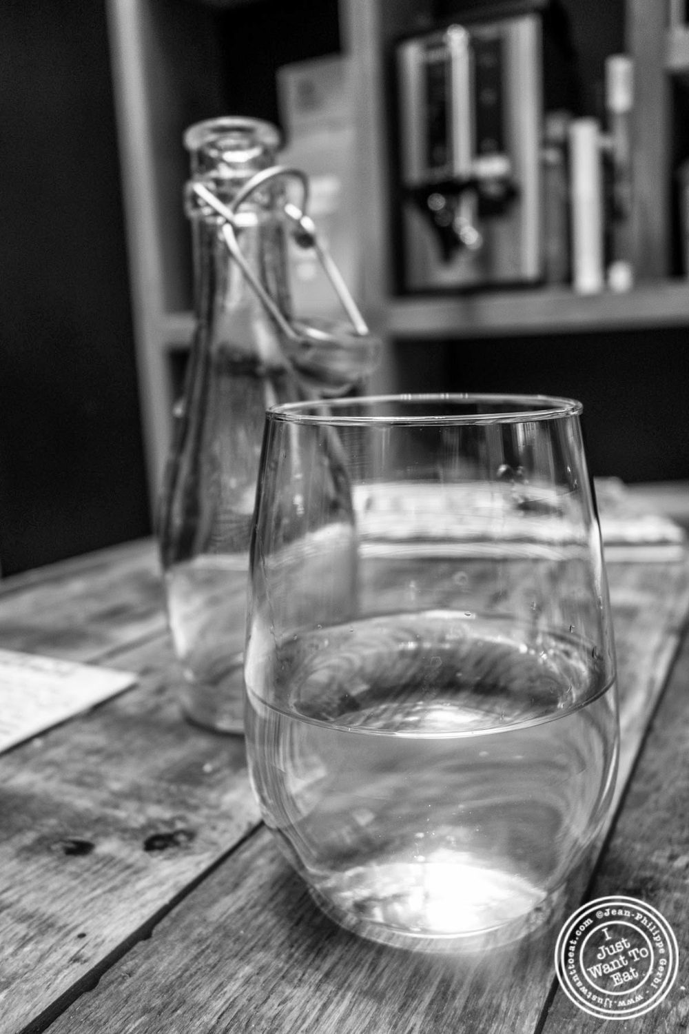 image of glass of water at Hogar Dulce Hogar, a Basque Bakery in Soho
