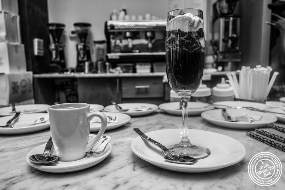 image of espresso and bombon at Hogar Dulce Hogar, a Basque Bakery in Soho