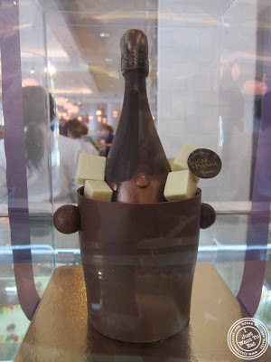 Image of Chocolate champagne bottle at Sugar and Plumm in NYC, New York