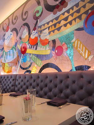 Image of colorful mosaic at Sugar and Plumm in NYC, New York