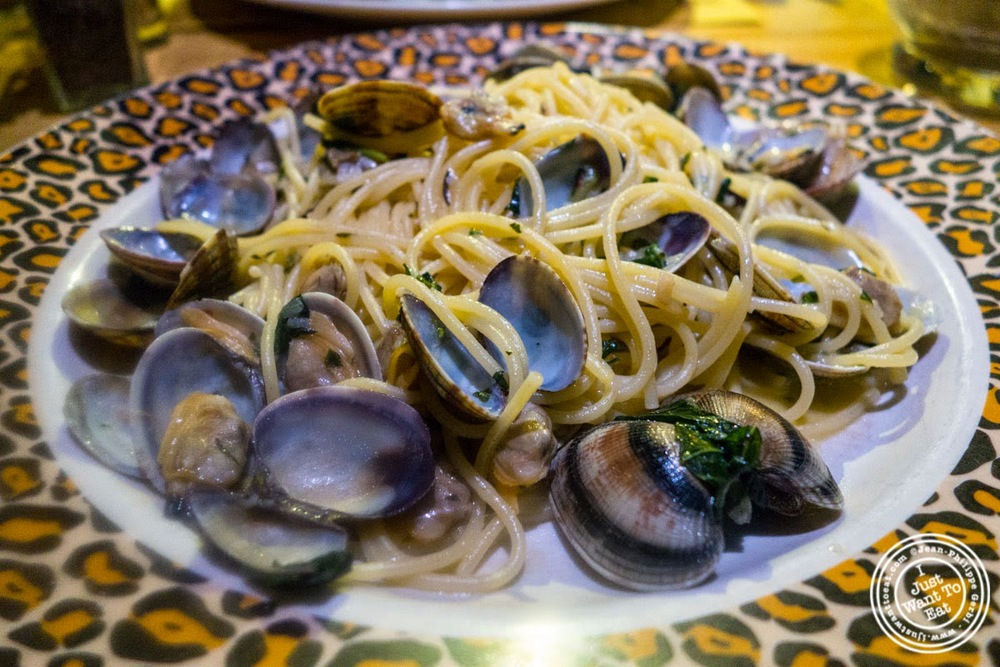 image of Linguine alle vongole at Trattoria ZàZà in Florence, Italy
