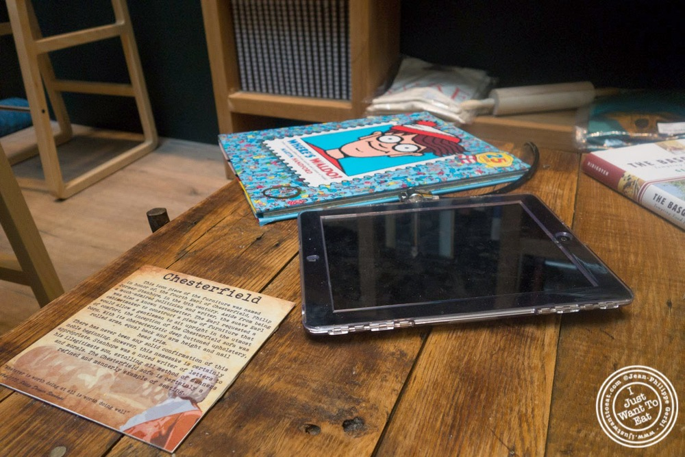 image of books and ipad at Hogar Dulce Hogar, a Basque Bakery in Soho