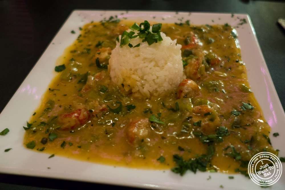 image of Crawfish Étouffée at MASQ New Orleans inspired cuisine in NYC, New York