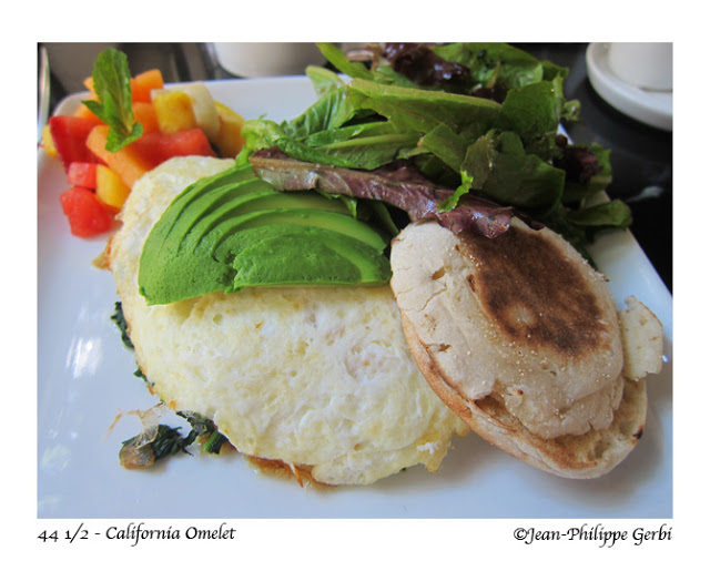 Image of California omelet at 44 and a half in Hell's Kitchen NYC, New York