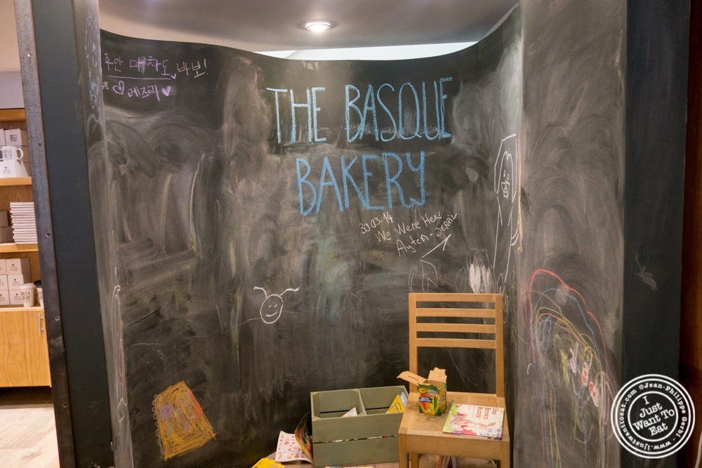 image of chalk board at Hogar Dulce Hogar, a Basque Bakery in Soho