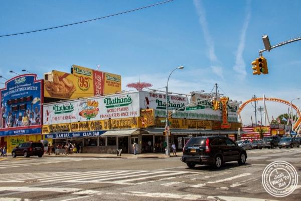 Nathan's at Coney Island Luna Park in Brooklyn, NY
