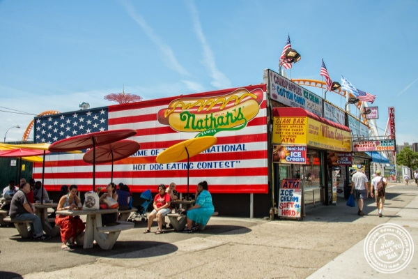 Nathan's at Coney Island Luna Park in Brooklyn, NY