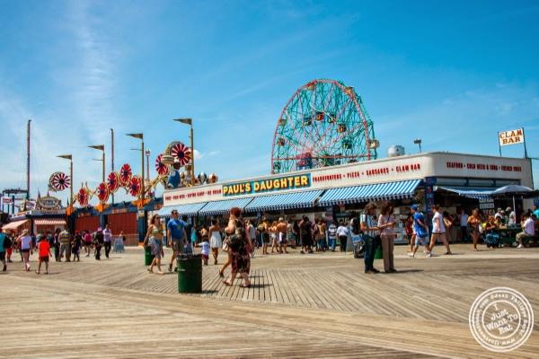 Boardwalk at Coney Island Luna Park in Brooklyn, NY