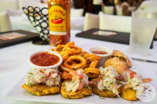 appetizer sampler at Don Coqui, Puerto Rican restaurant in Astoria, NY