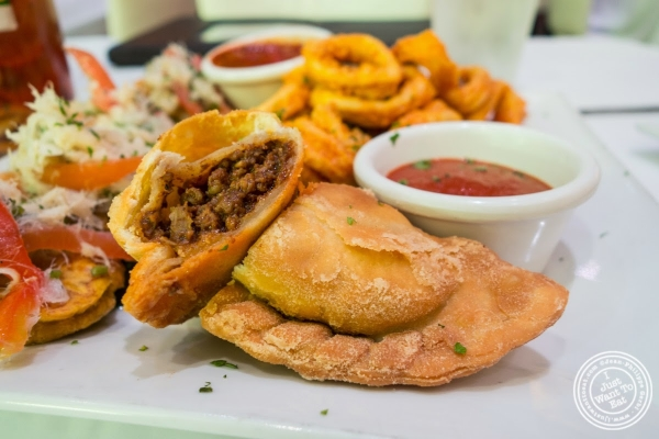 beef empanada at Don Coqui, Puerto Rican restaurant in Astoria, NY
