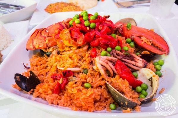 paella at Don Coqui, Puerto Rican restaurant in Astoria, NY