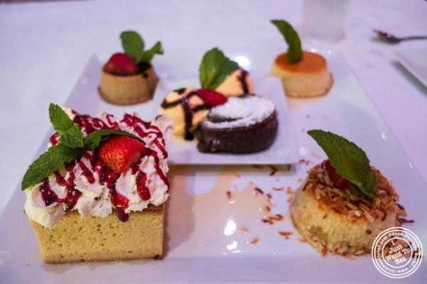 dessert sampler at Don Coqui, Puerto Rican restaurant in Astoria, NY