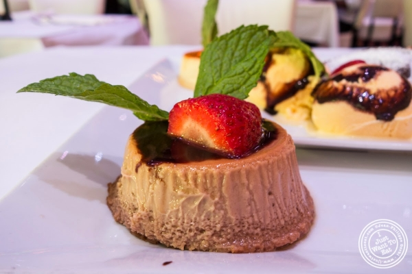 chocolate flan at Don Coqui, Puerto Rican restaurant in Astoria, NY