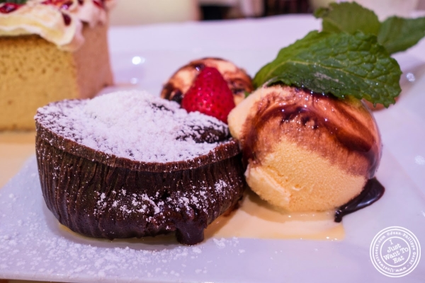 chocolate lava cake at Don Coqui, Puerto Rican restaurant in Astoria, NY