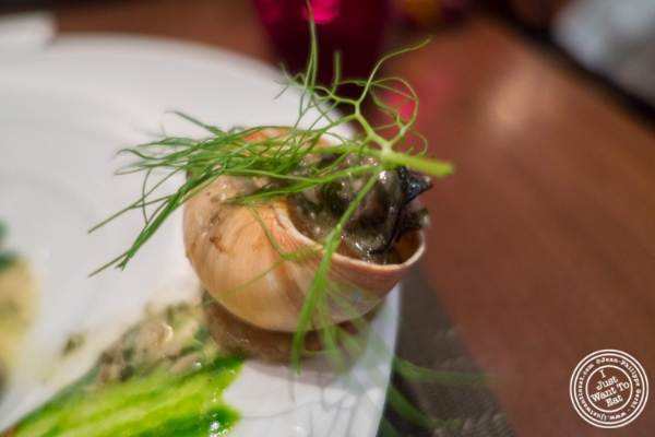 Escargots farcis at Ça Va Todd English in New York, NY