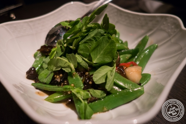 Sugar Snap peas at Buddakan in New York, NY