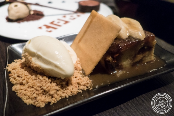 Almond bread pudding at Buddakan in New York, NY