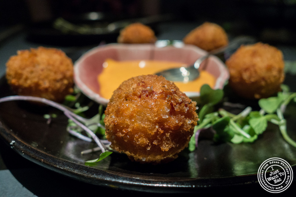 Ham and cheese fritters at ABC Cocina in New York, NY