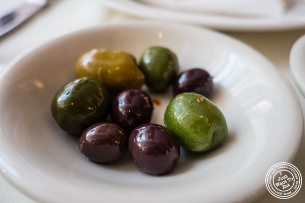 Olives at Becco in New York, NY