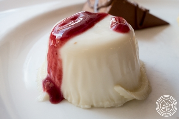 Panna cotta at Becco in New York, NY