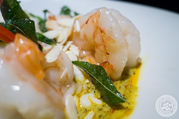 spicy prawn at Hakkasan in NYC, NY