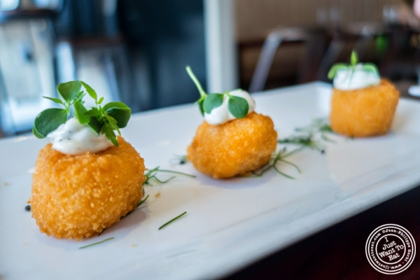 buffalo risotto croquettes at Café Blossom on Carmine, New York, NY