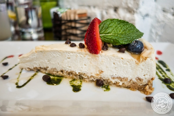 NY cheesecake at Café Blossom on Carmine, New York, NY